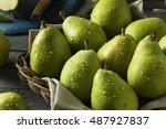 Small photo of Raw Green Organic Danjou Pears Ready to Eat