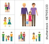 family icon set | Shutterstock .eps vector #487935133