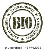 bio  natural product grunge... | Shutterstock .eps vector #487942033