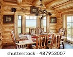 A Rustic Dining Room  With...