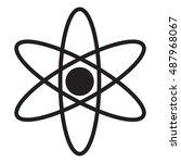 molecule icon  atom icon  atom... | Shutterstock .eps vector #487968067