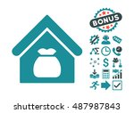 harvest warehouse icon with... | Shutterstock .eps vector #487987843