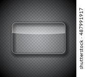glass frame  rectangular button ...   Shutterstock . vector #487991917