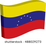 flag of venezuela  officially... | Shutterstock .eps vector #488029273