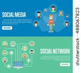 social network people and... | Shutterstock .eps vector #488067823