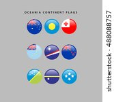 set of flags from oceania ...