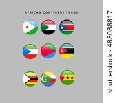 set of flags from africa ...