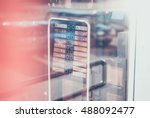 coffee vending machine. selling ... | Shutterstock . vector #488092477
