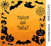 halloween background. trick or... | Shutterstock .eps vector #488121193
