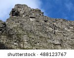 Close Up Of A Steep And Rocky...