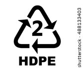 recycling symbols for plastic | Shutterstock .eps vector #488133403