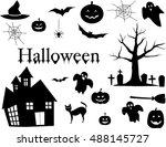 vector illustration of set of... | Shutterstock .eps vector #488145727