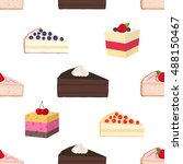 pattern of hipster cakes