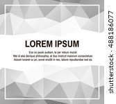 silver banner template with... | Shutterstock .eps vector #488186077