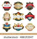 vector luxury labels | Shutterstock .eps vector #488192047