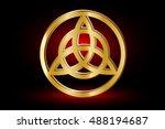 triquetra symbol   vector... | Shutterstock .eps vector #488194687