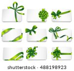set of beautiful cards with... | Shutterstock .eps vector #488198923