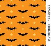 halloween bats background. | Shutterstock .eps vector #488204233