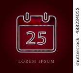 25th calendar red crystal ruby...
