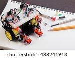 stem or diy electronic kit  ...   Shutterstock . vector #488241913
