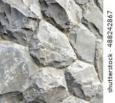 gray stone wall texture and... | Shutterstock . vector #488242867