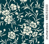 seamless vintage pattern with... | Shutterstock .eps vector #488251033