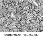 abstract geometrical pattern.... | Shutterstock .eps vector #488259487