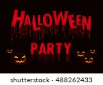 halloween party. vector... | Shutterstock .eps vector #488262433