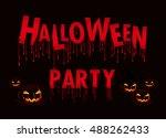 halloween party. vector... | Shutterstock .eps vector #488262433