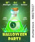 halloween party poster...   Shutterstock .eps vector #488278327