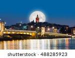 golden horn against galata... | Shutterstock . vector #488285923