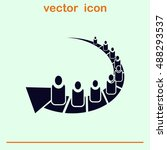 group of people icon  friends... | Shutterstock .eps vector #488293537