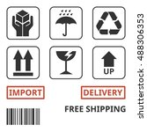 shipping and package handing... | Shutterstock .eps vector #488306353