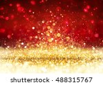 christmas background   golden... | Shutterstock . vector #488315767