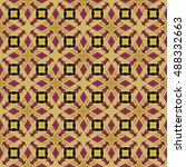 the geometric texture. boho... | Shutterstock .eps vector #488332663