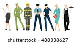 group of professional people | Shutterstock .eps vector #488338627