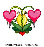 heart flowers | Shutterstock . vector #48834652