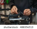 stringing machine. close up of... | Shutterstock . vector #488356513