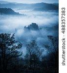 mysterious misty morning over... | Shutterstock . vector #488357383