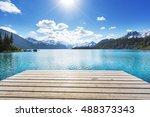 hike on garibaldi lake near...   Shutterstock . vector #488373343