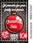 color vintage christmas sale... | Shutterstock .eps vector #488374267