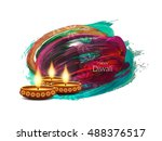 abstract colorful happy diwali... | Shutterstock .eps vector #488376517