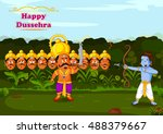 rama killing ravana during... | Shutterstock .eps vector #488379667
