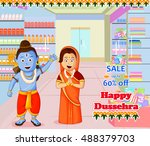 lord rama and sita wishing... | Shutterstock .eps vector #488379703
