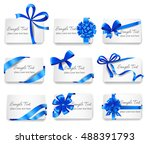 set of beautiful cards with... | Shutterstock .eps vector #488391793