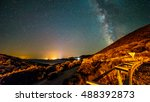 a beautiful view of the milky... | Shutterstock . vector #488392873