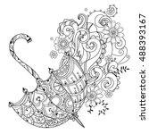 hand drawn doodle outline... | Shutterstock .eps vector #488393167