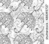 hand drawn doodle outline...   Shutterstock .eps vector #488393737