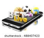 3d renderer image. smartphone...   Shutterstock . vector #488407423