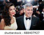 george clooney  amal clooney ... | Shutterstock . vector #488407927